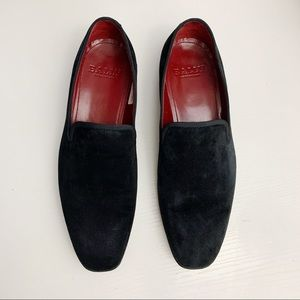 Bally Bantly Classic Black Suede Slip On Loafers